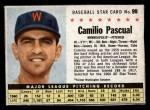 1961 Post Cereal #99 BOX Camilo Pascual   Front Thumbnail