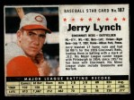 1961 Post Cereal #187 BOX  Jerry Lynch  Front Thumbnail