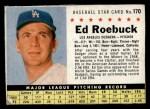 1961 Post Cereal #170 BOX  Ed Roebuck  Front Thumbnail