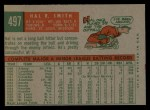 1959 Topps #497   Hal R. Smith Back Thumbnail