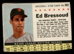 1961 Post Cereal #152 BOX  Ed Bressoud  Front Thumbnail