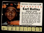 1961 Post Cereal #97 BOX  Earl Battey  Front Thumbnail