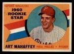 1960 Topps #138  Rookies  -  Art Mahaffey Front Thumbnail