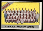 1966 Topps #303 COR  Indians Team Front Thumbnail