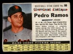1961 Post Cereal #98 BOX  Pedro Ramos  Front Thumbnail