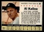 1961 Post Cereal #35 BOX  Al Kaline  Front Thumbnail
