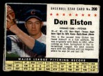 1961 Post Cereal #200 BOX  Don Elston  Front Thumbnail