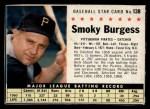 1961 Post Cereal #138 BOX Smoky Burgess  Front Thumbnail