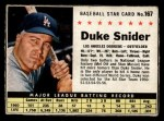 1961 Post Cereal #167 BOX Duke Snider   Front Thumbnail