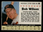 1961 Post Cereal #66 BOX  Bob Wilson Front Thumbnail