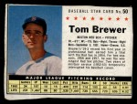1961 Post Cereal #50 BOX Tom Brewer   Front Thumbnail