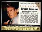 1961 Post Cereal #75 BOX  Brooks Robinson  Front Thumbnail