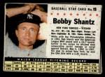 1961 Post Cereal #15 BOX  Bobby Shantz Front Thumbnail
