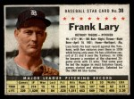1961 Post Cereal #38 BOX Frank Lary   Front Thumbnail