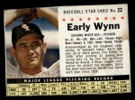 1961 Post Cereal #22 BOX  Early Wynn  Front Thumbnail