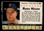 1961 Post Cereal #52 BOX Russ Nixon   Front Thumbnail