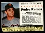 1961 Post Cereal #98 BOX Pedro Ramos   Front Thumbnail