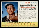 1963 Post Cereal #92  Haywood Sullivan  Front Thumbnail