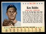 1963 Post Cereal #174  Ken Hubbs  Front Thumbnail