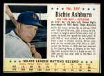 1963 Post Cereal #197   Richie Ashburn Front Thumbnail