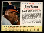 1963 Post Cereal #28 ERR L.Wagner   Front Thumbnail