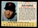 1963 Post Cereal #110  Jack Sanford  Front Thumbnail