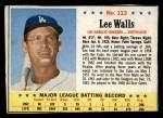 1963 Post Cereal #113   Lee Walls Front Thumbnail