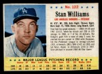 1963 Post Cereal #122  Stan Williams  Front Thumbnail