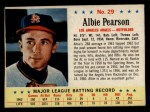 1963 Post Cereal #29   Albie Pearson Front Thumbnail