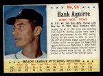 1963 Post Cereal #54   Hank Aguirre Front Thumbnail