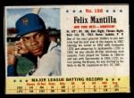 1963 Post Cereal #198   Felix Mantilla Front Thumbnail