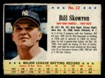 1963 Post Cereal #12  Bill Skowron  Front Thumbnail