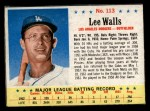 1963 Post Cereal #113  Lee Walls  Front Thumbnail