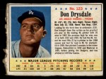 1963 Post Cereal #123   Don Drysdale Front Thumbnail