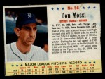 1963 Post Cereal #56   Don Mossi Front Thumbnail