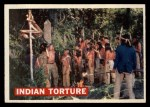 1956 Topps Davy Crockett #27 ORG Indian Torture   Front Thumbnail