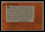1956 Topps Davy Crockett #26 ORG On Guard   Back Thumbnail