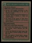 1975 Topps #201  1963 MVPs  -  Elston Howard / Sandy Koufax Back Thumbnail