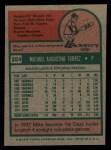 1975 Topps #254   Mike Torrez Back Thumbnail