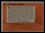 1956 Topps Davy Crockett #62 ORG  Tough Choice  Back Thumbnail