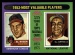 1975 Topps #191  1953 MVPs  -  Al Rosen / Roy Campanella Front Thumbnail