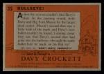 1956 Topps Davy Crockett #35 ORG Bullseye!   Back Thumbnail