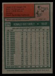 1975 Topps #270   Ron Fairly Back Thumbnail