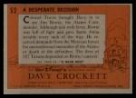 1956 Topps Davy Crockett #52 ORG Desperate Decision   Back Thumbnail