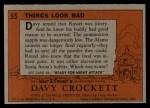 1956 Topps Davy Crockett #55 ORG Things Look Bad   Back Thumbnail