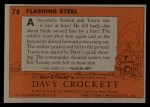 1956 Topps Davy Crockett #74 ORG  Flashing Steel  Back Thumbnail
