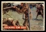 1956 Topps Davy Crockett #19 ORG Picking 'Em Off   Front Thumbnail