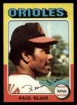 1975 Topps #275  Paul Blair  Front Thumbnail