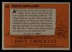 1956 Topps Davy Crockett #68 ORG Heavy Artillery   Back Thumbnail