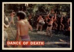 1956 Topps Davy Crockett #9 ORG Dance of Death   Front Thumbnail